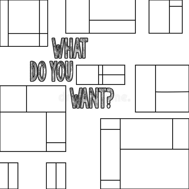Текст почерка что делают вас Wantquestion Созерцанию устремленности смысла концепции нужно предусмотреть Aspire бесплатная иллюстрация