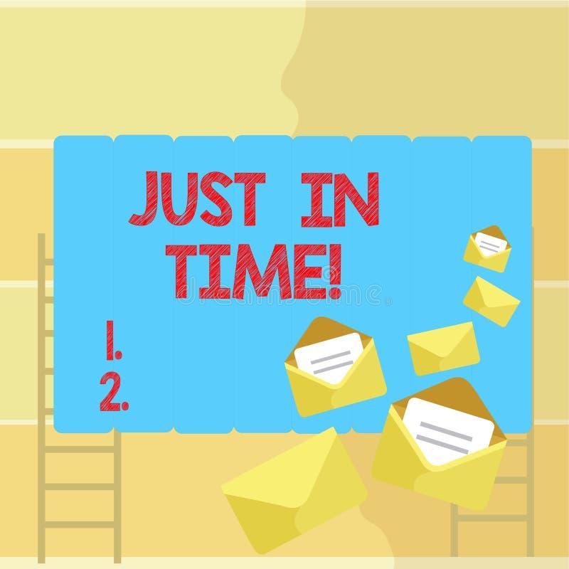 Текст сочинительства слова как раз вовремя Концепция дела для приезжать точно на ответственность пунктуальности часа необходимую бесплатная иллюстрация