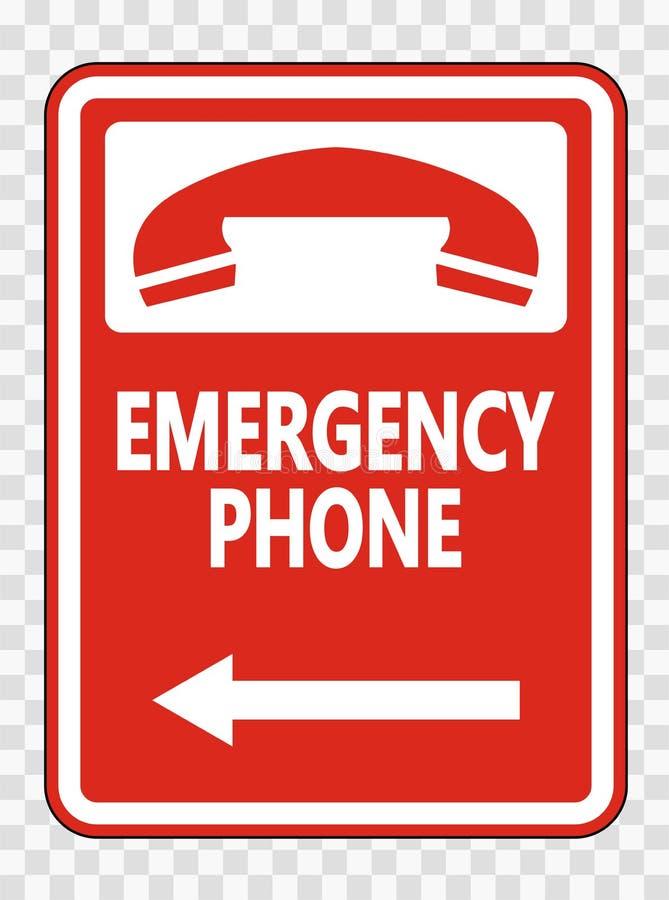 телефон ( символа аварийный; Левое Arrow) Знак на прозрачной предпосылке бесплатная иллюстрация