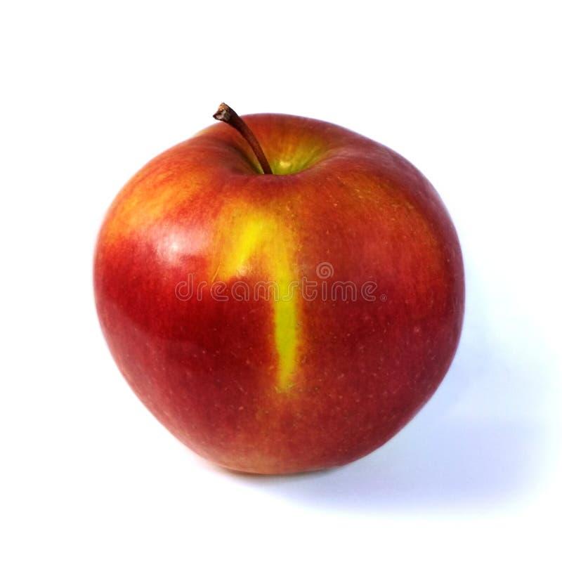 Тень одно плода яблока фото макроса красная изолированная на белой предпосылке стоковые изображения
