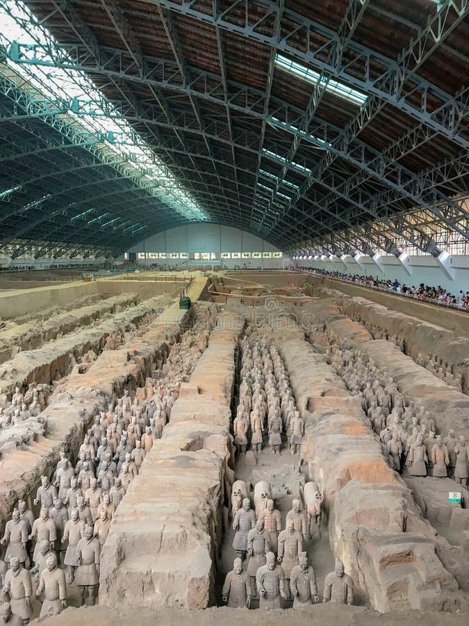 Терракотовая армия, Сиань, Китай стоковые фотографии rf