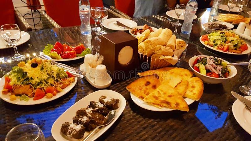 Типичные грузинские блюда, Грузия стоковое изображение rf