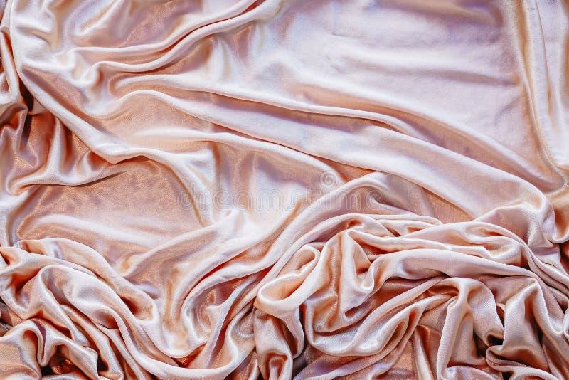 Ткань абстрактной предпосылки роскошная или жидкостные створки волны или волнистых материала бархата сатинировки текстуры шелка з стоковое изображение