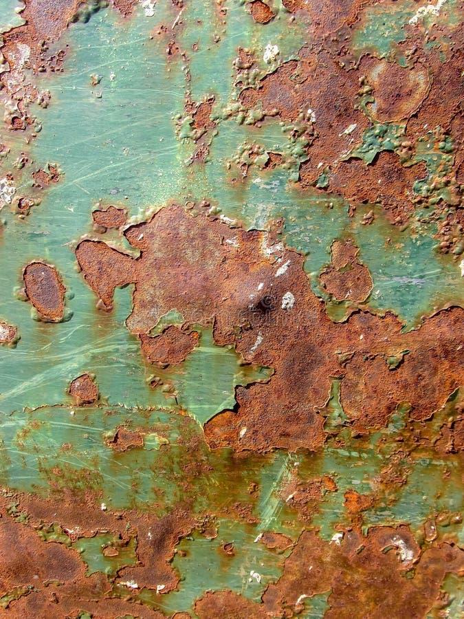 Тяжело рифленая зеленая текстура металла стоковые изображения rf