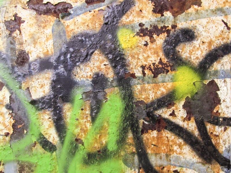 Тяжело рифленая зеленая текстура металла стоковое фото rf