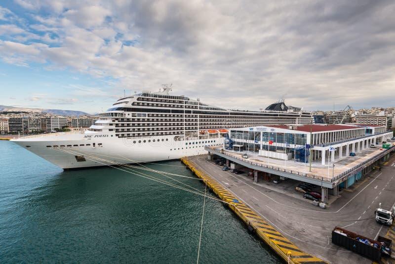 Туристическое судно MSC Poesia стоковые изображения