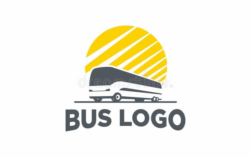 Транспорт силуэта автобуса логотипа стоковые фото