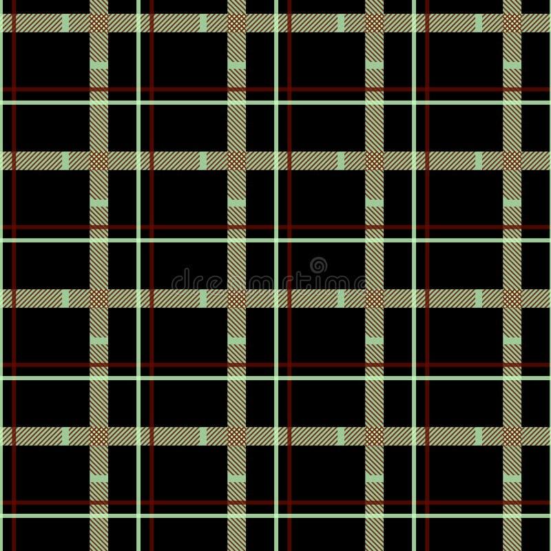 Традиционный тартан Картина вектора безшовной шотландской шотландки checkered Ретро собрание ткани EPS10 иллюстрация вектора