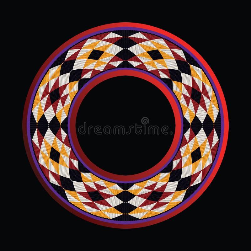 Треугольники Sadu вводят сплетя рамку в моду круга темы иллюстрация штока