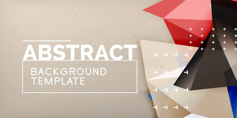 Триангулярный низкий поли дизайн предпосылки иллюстрация штока