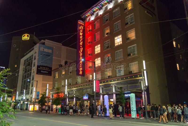 Толкотня и суматоха городского Ванкувера стоковое изображение