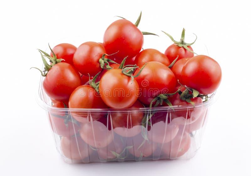 Томаты свежего organik красные изолированные, на белой предпосылке стоковые изображения rf