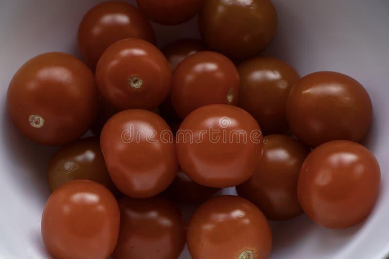 томаты dof вишни близкие отмелые вверх стоковое фото