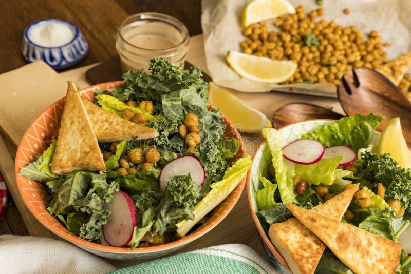 Тофу Crisy и салат нута стоковое фото