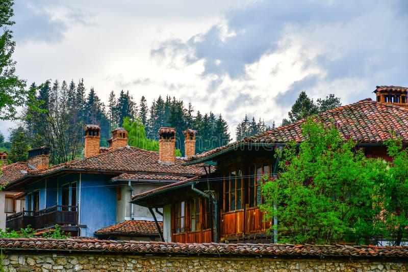 Тraditional bulgarian house  in Koprivshtitsa, Bulgaria royalty free stock image