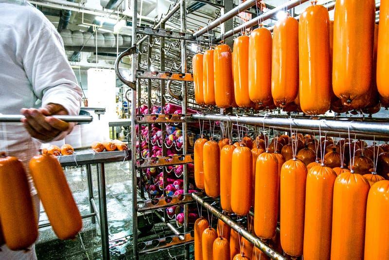 Фабрика для изготовляя сосисок стоковые фотографии rf