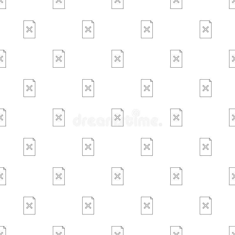Файл отвергает предпосылку от линии значка линейная картина вектора иллюстрация вектора