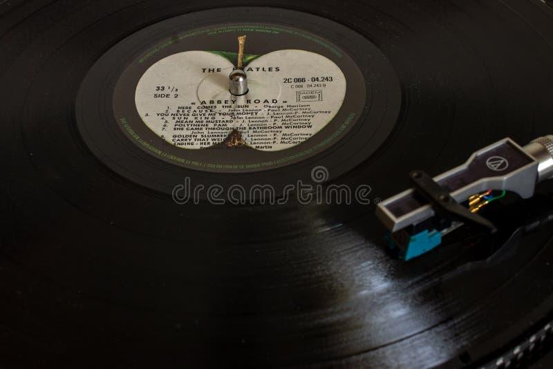 Фантастическое Beatles и их большинств известная дорога аббатства альбома стоковое фото