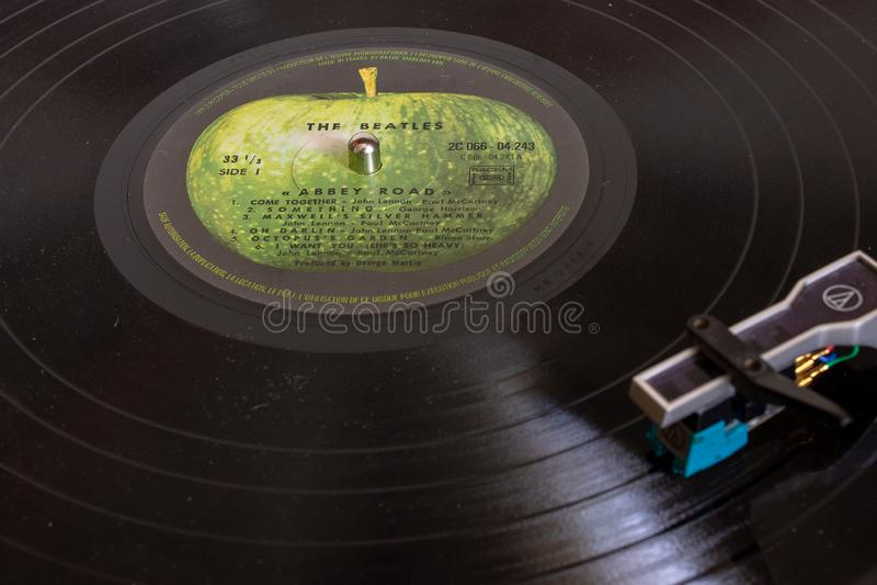 Фантастическое Beatles и их большинств известная дорога аббатства альбома стоковые фото