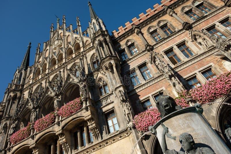 Фасад townhall Мюнхена стоковые изображения