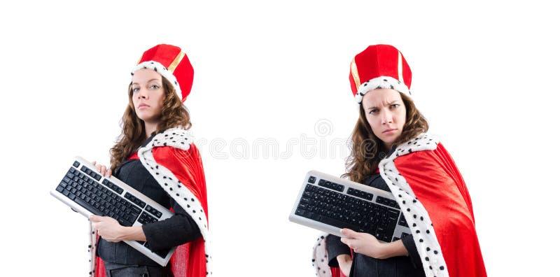 Ферзь женщины в смешной концепции стоковые изображения rf
