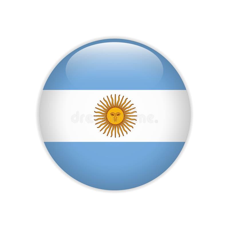 Флаг Аргентины на кнопке иллюстрация вектора