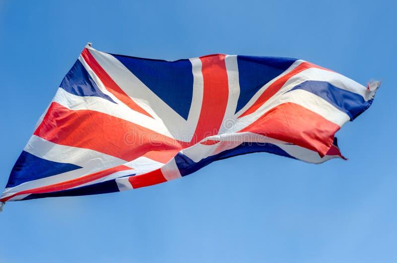 Флаг Великобритании, обыкновенно известный как Юнион Джек или юнион флаг стоковая фотография rf