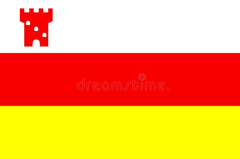 Флаг города Санта-Барбара, Калифорнии, США бесплатная иллюстрация
