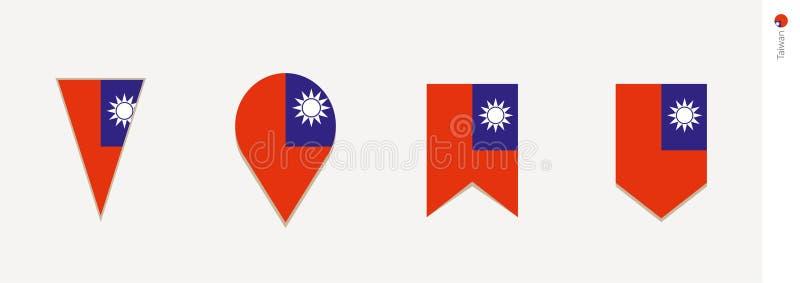 Флаг Тайваня в вертикальном дизайне, иллюстрации вектора иллюстрация вектора