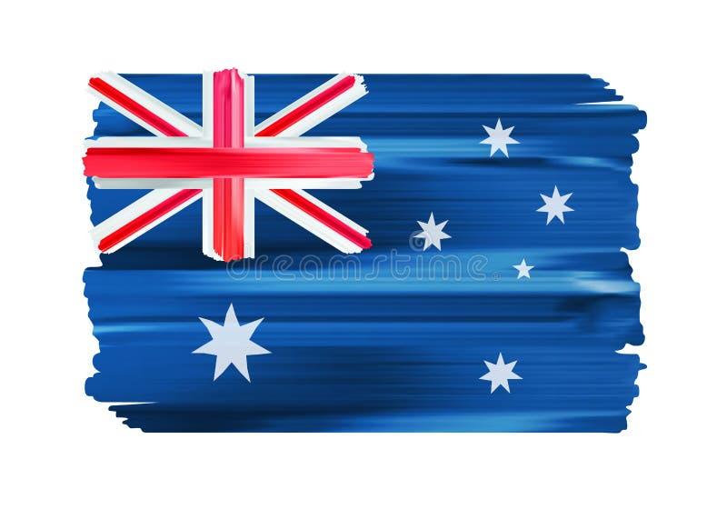 Флаг щетки Австралии красочными покрашенный ходами бесплатная иллюстрация