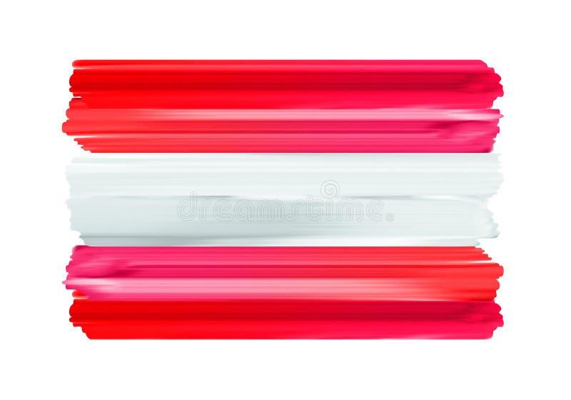 Флаг щетки Австрии красочными покрашенный ходами иллюстрация вектора