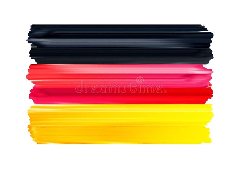 Флаг щетки Германии красочными покрашенный ходами бесплатная иллюстрация
