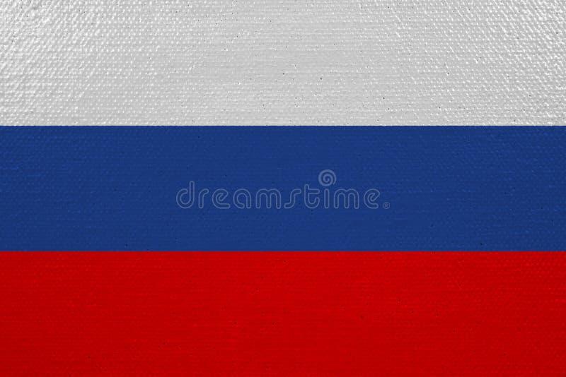 Флаг России на холсте иллюстрация вектора