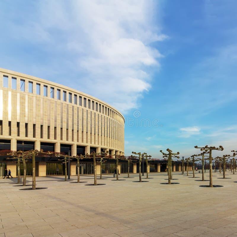 Футбольный стадион в современном парке Galitsky стоковые фото