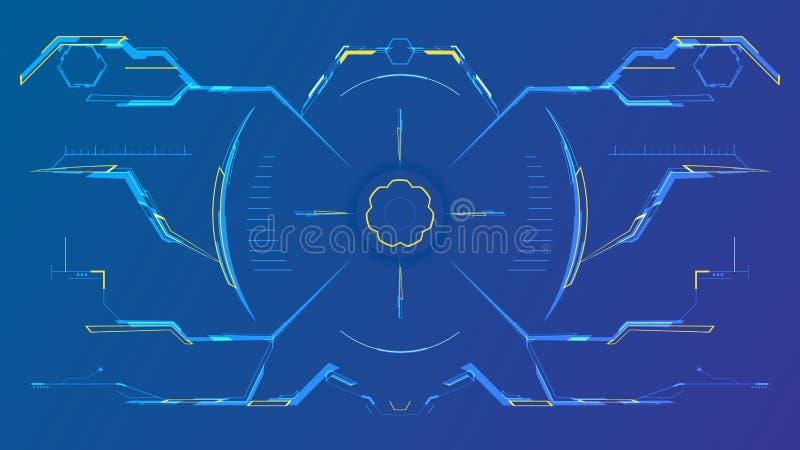 Футуристический интерфейс hud с современным видоискателем иллюстрация вектора