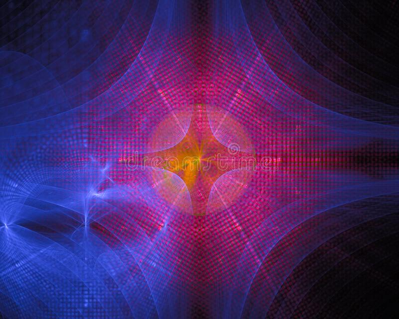 Фракталь конспекта будущая цифровая, фон воображения дизайна тайны фантазии, тайна стоковое фото rf