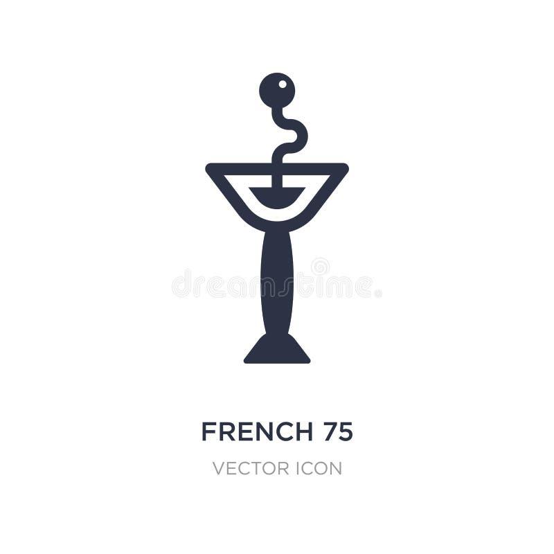 французский значок 75 на белой предпосылке Простая иллюстрация элемента от концепции напитков иллюстрация штока