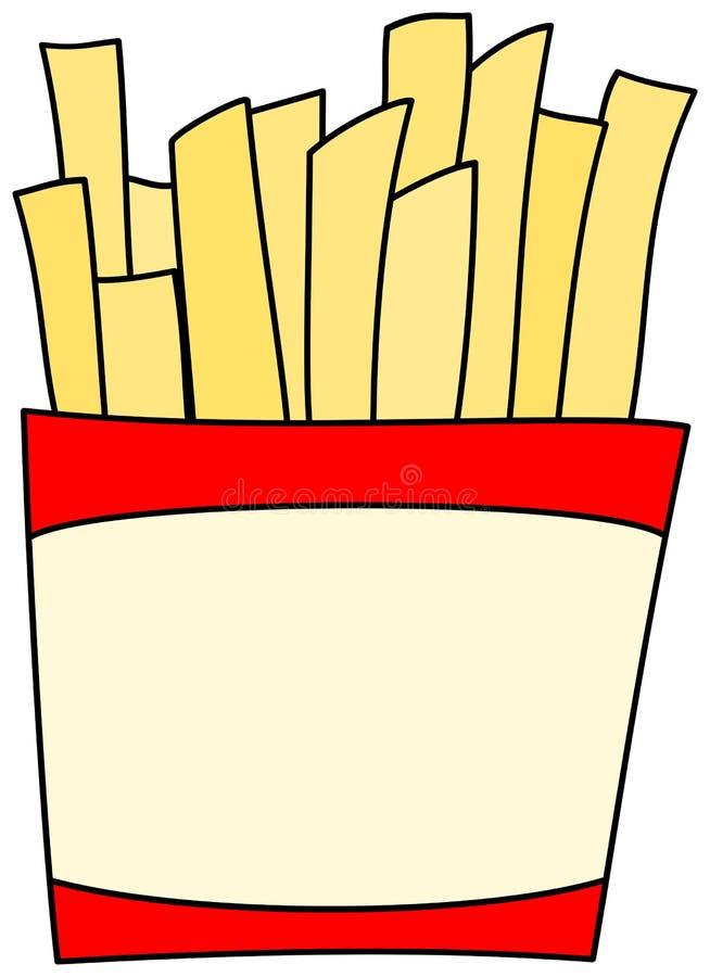 Французское clipart картофеля фри иллюстрация штока