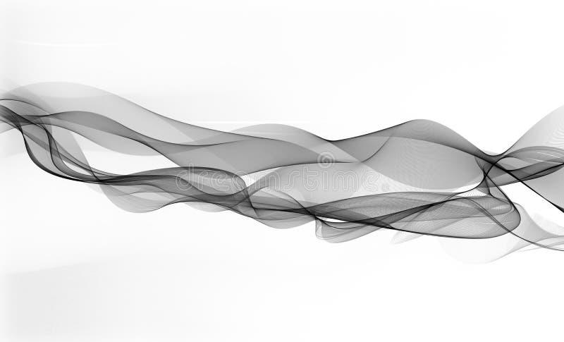 фон ,абстракция. Abstract illustration of wavy lines stock illustration