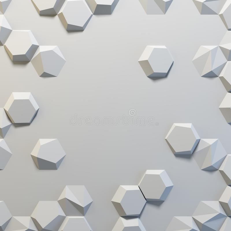 Фон белых шестиугольников конспекта пустой стоковое изображение rf