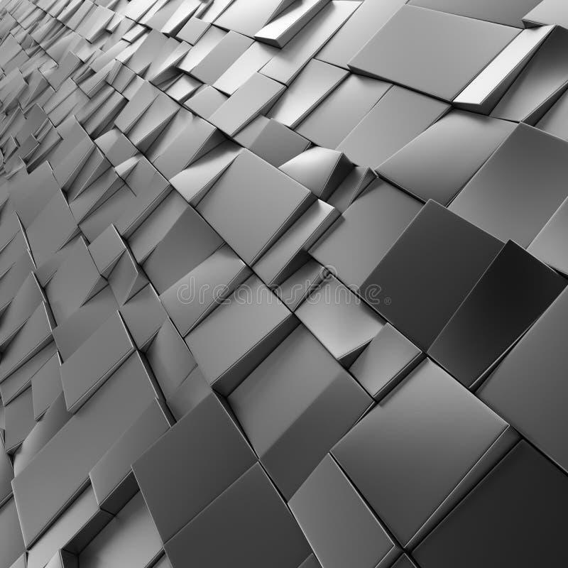 Фон квадратов Chrome абстрактный бесплатная иллюстрация