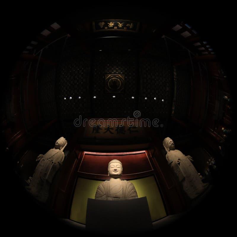 фотография объектива Рыб-глаза музея дворца Пекин с уникальным зрением стоковые изображения rf