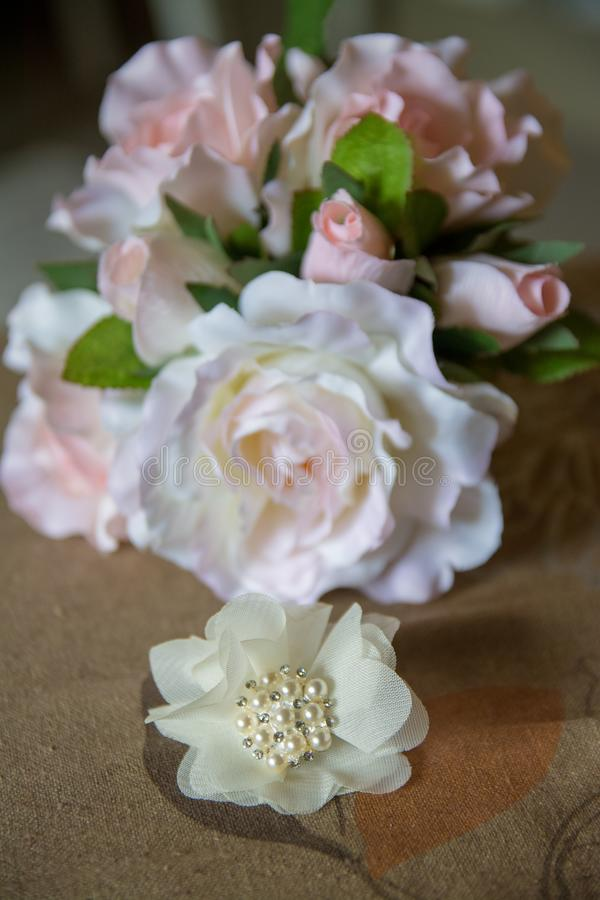 Фото детали свадьбы интеграл и важная часть свадьбы стоковое изображение