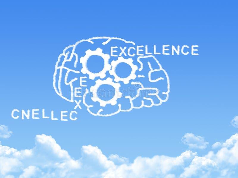 Форма облака концепции человеческого мозга иллюстрация вектора