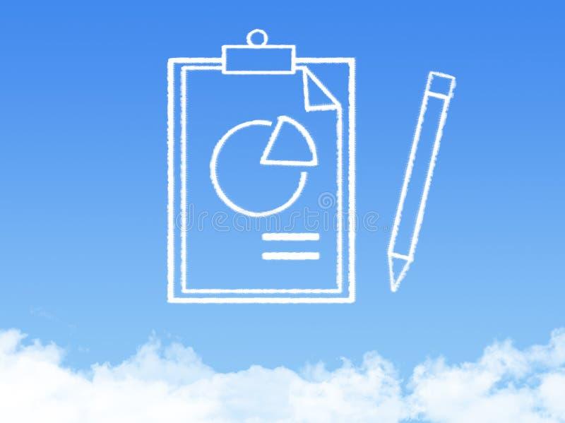 Форма облака печатного документа блокнота стоковые фото