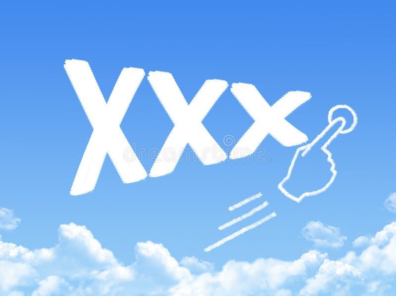 Форма облака сообщения Xxx бесплатная иллюстрация