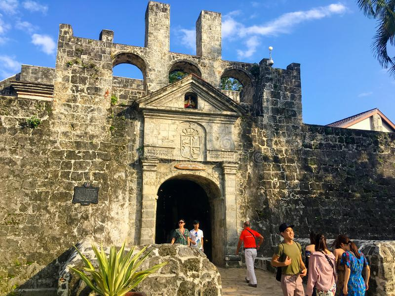 Форт San Pedro в городе Cebu стоковые фотографии rf