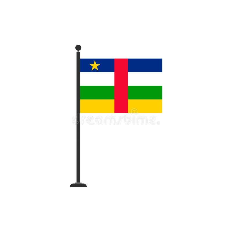 Центрально-африканский вектор флага изолировал 3 иллюстрация вектора