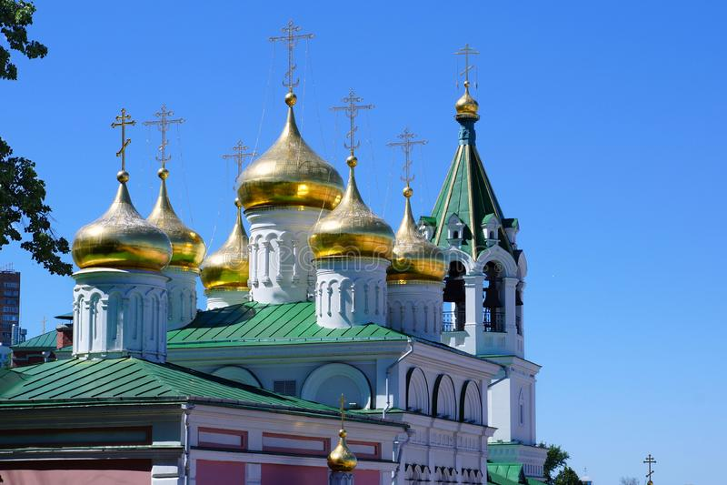 Церковь рождества Иоанна Крестителя в Nizhny Novgorod стоковые фотографии rf