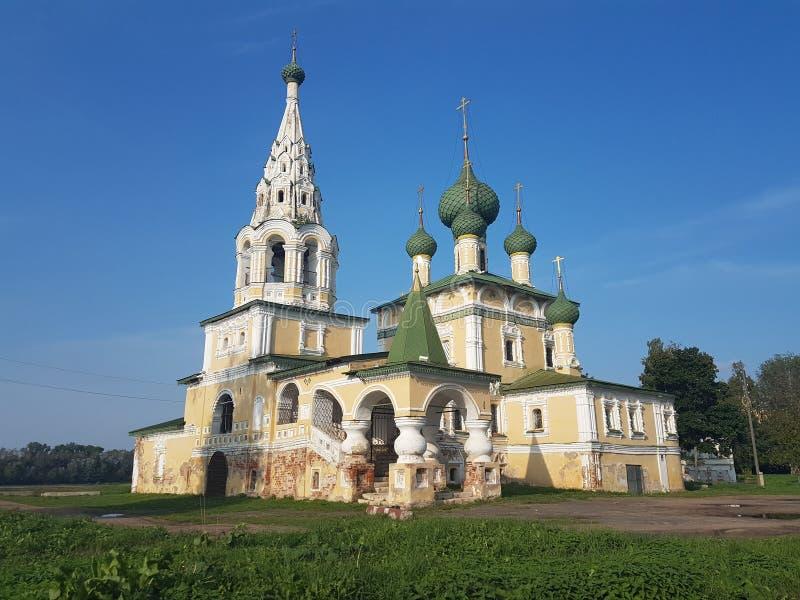 Церковь рождества Иоанна Крестителя в Uglich, регионе Yaroslavl, России стоковые изображения